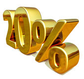 3d Gold 20 Twenty Percent Discount Sign Stock Image
