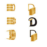 D GOLD Stock Photo