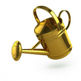 3d Gold watering can Stock Image