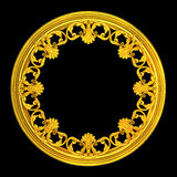 3d gold wreath Stock Photography