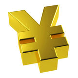 3d Gold Yen Symbol Golden Japan Royalty Free Stock Photos