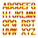 3D Golden Alphabet Royalty Free Stock Image