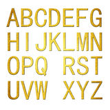 3D Golden Alphabet Royalty Free Stock Photo