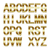 3D Golden Alphabet Royalty Free Stock Photography
