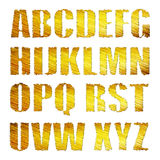 3D Golden Alphabet Stock Image