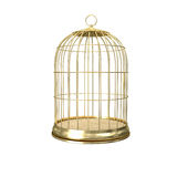 3d golden birdcage Royalty Free Stock Photography