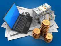 3d golden coins Stock Images