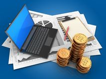 3d golden coins Royalty Free Stock Image