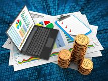 3d golden coins Royalty Free Stock Photography