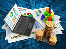 3d golden coins Royalty Free Stock Photo
