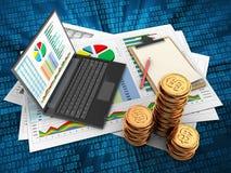 3d golden coins Royalty Free Stock Photos