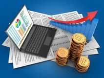 3d golden coins Royalty Free Stock Images