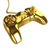 3d Golden console controller Royalty Free Stock Photography