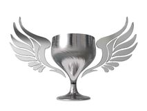 3d golden cup with wings Royalty Free Stock Images