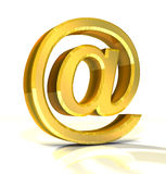 3d golden e-mail symbol Royalty Free Stock Photography