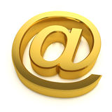 3d Golden email symbol Royalty Free Stock Image