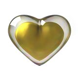 3D Golden Heart. 3D rendered gold heart encased in glass Royalty Free Stock Photography