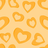 3D Golden hearts. Seamless background Stock Photography