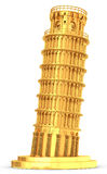 3d golden Leaning Tower of Pisa Royalty Free Stock Images