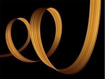 3d golden paint brush stroke ribbon spiral. Vector background. 3d golden paint watercolor brush stroke luxury ribbon spiral. Vector background vector illustration