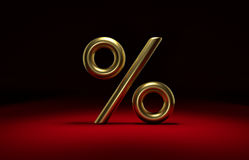 3D golden percent Royalty Free Stock Image