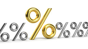 3D golden percent Royalty Free Stock Photo