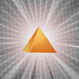 3D golden pyramid background Royalty Free Stock Photo