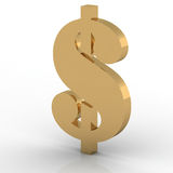 Dollar. 3d golden sign collection - dollar Royalty Free Stock Images