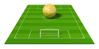 3D golden soccer ball/ football Royalty Free Stock Photography