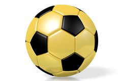 3D golden soccer/ football Royalty Free Stock Photography