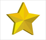 3d golden star Stock Image