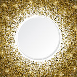 3d Golden star shaped confetti frame isolated on white backgroun Royalty Free Stock Photography