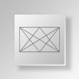 3D Golden Triangles Button Icon Concept Royalty Free Stock Photo