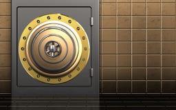 3d golden vault door golden vault door Royalty Free Stock Photo