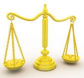 3d golden weight scale concept Royalty Free Stock Photography