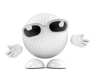 3d Golf ball with arms outstretched Stock Images