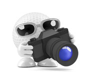 3d Golf ball camera Royalty Free Stock Image