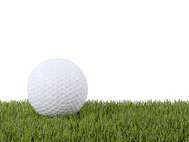 3d Golf ball on grass. 3d render of a golf ball resting on grass Royalty Free Stock Images