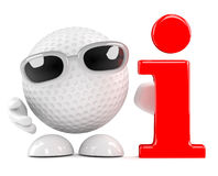 3d Golf ball information Stock Photography