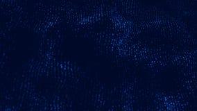 3d golf Golf van deeltjes Abstracte blauwe geometrische achtergrond Grote gegevensvisualisatie Futuristische de samenvatting van  stock illustratie