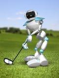 3D Golfspeler van de Illustratierobot royalty-vrije illustratie