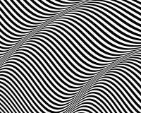 3d golvende achtergrond Dynamisch effect Zwart-wit ontwerp Patroon met optische illusie Vector illustratie vector illustratie