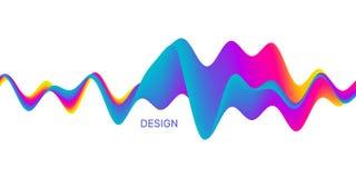 3D golvende achtergrond met dynamisch effect Abstracte Vectorillustratie voor Vlieger, Brochure, Boekje en Websitesontwerp stock illustratie