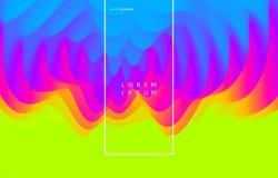3D golvende achtergrond met rimpelingseffect abstracte vectorillustratie Het malplaatje van het ontwerp stock illustratie