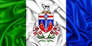 3d golvende vlag van Yukon royalty-vrije illustratie