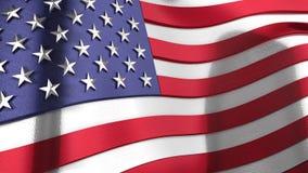3D golvende weerspiegelende vlag van de Verenigde Staten van Amerika Royalty-vrije Stock Fotografie