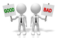 3D good and bad concept Royalty Free Stock Photography