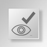 3D GOOD EYE icon Business Concept. 3D Symbol Gray Square GOOD EYE icon Business Concept Royalty Free Stock Images