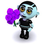 3d Goth bouquet Stock Photography