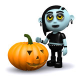 3d Goth pumpkin Stock Images